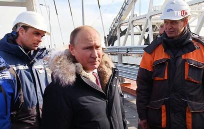 Путин пожелал открыть автомобильную часть Крымского моста в мае