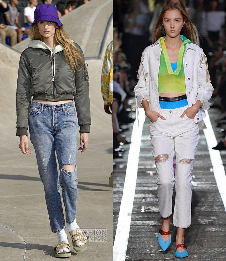 Модные джинсы весна-лето 2019 фото №11