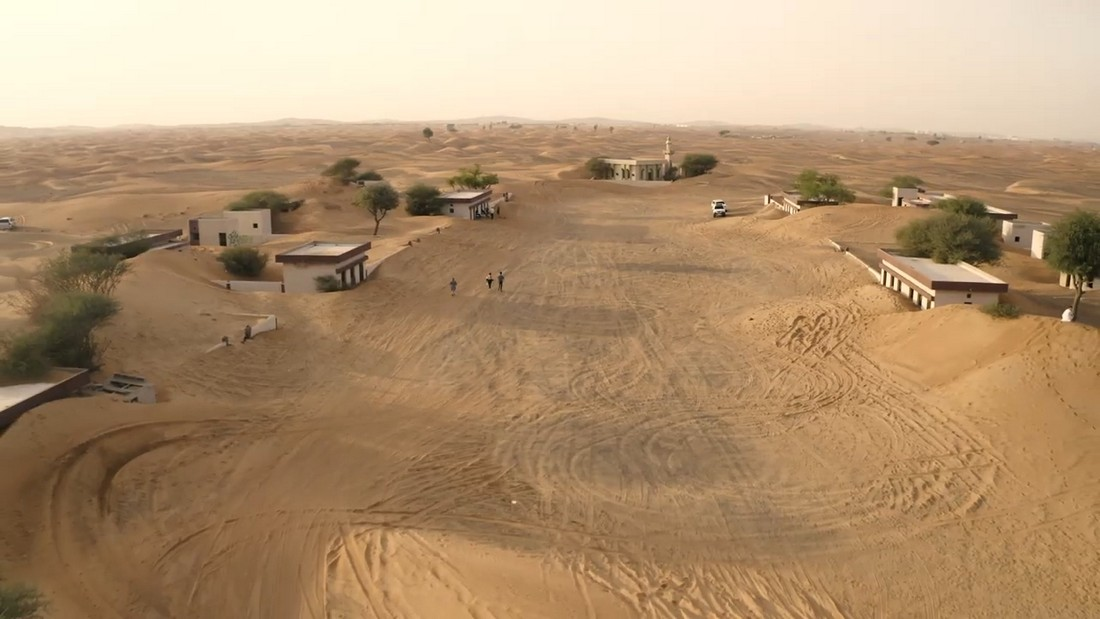 Заброшенная деревенька недалеко от Дубая