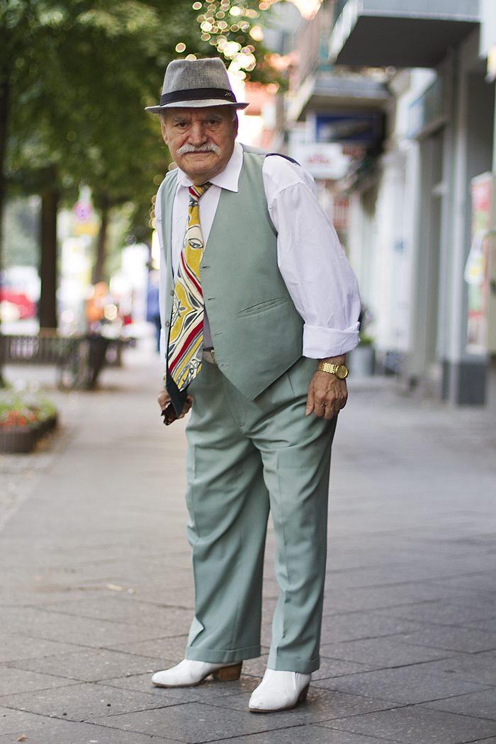 86-летний стиляга из Германии каждый день в новом образе мода
