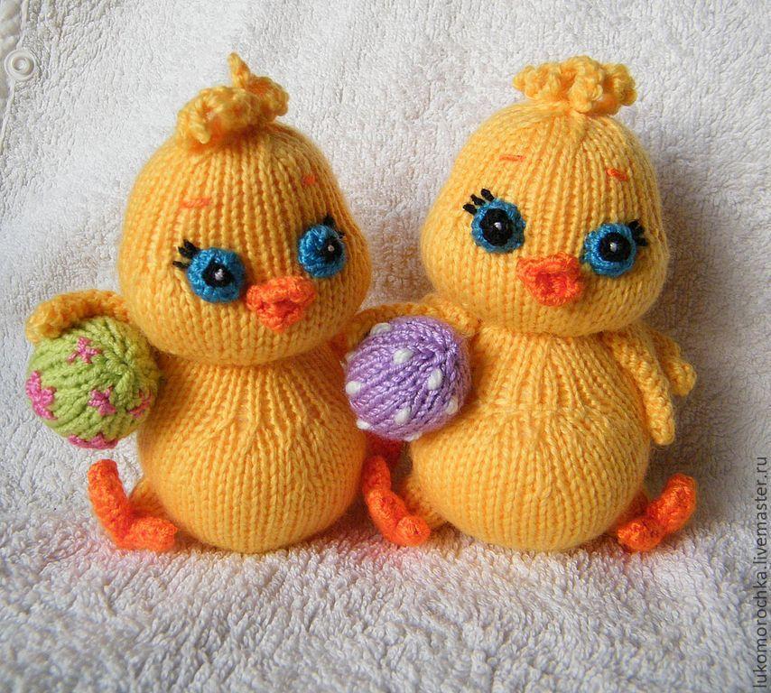 Вязание спицами. Пасхальные мини-цыплята вязание,женские хобби,пасхальные поделки,поделки,рукоделие,своими руками