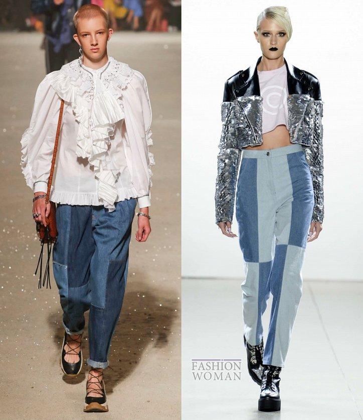 Модные джинсы весна-лето 2019 фото №17