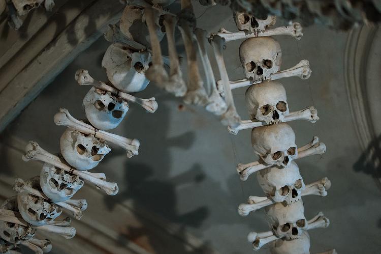 Костница в Седлеце: необычный интерьер, украшенный тысячами костей