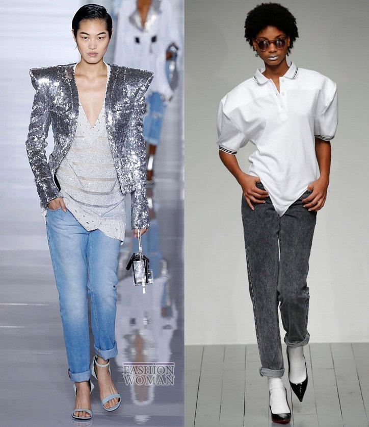 Модные джинсы весна-лето 2019 фото №25