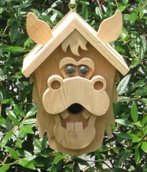 Необычные птичьи домики! handmake,дерево,поделки своими руками