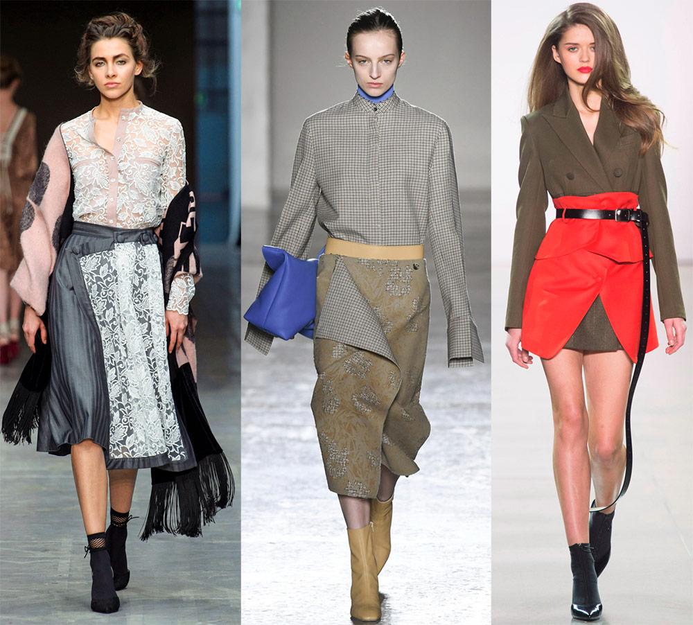 Модные и красивые юбки с запахом 2018-2019
