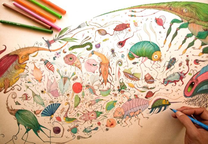 Удивительный мир фантастических существ. Автор: Vorja Sanchez.