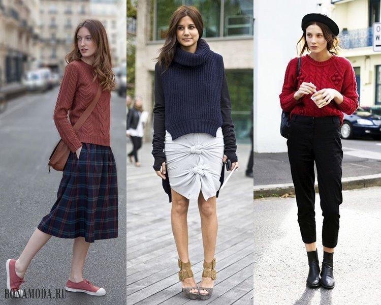 Женские трикотажные свитера 2017-2018: повседневный уличный стиль