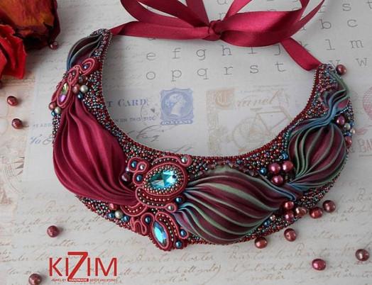 Изумительные украшения, сделанные в японском стиле шибори...