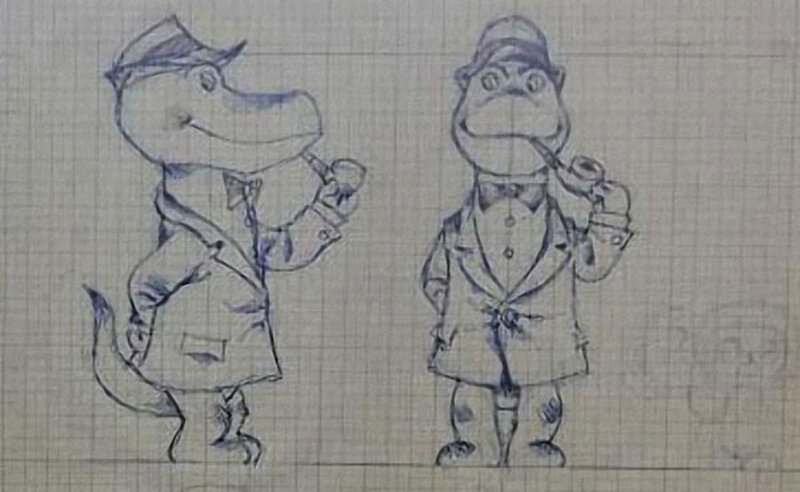 Как выглядели любимые герои в самом начале. Эскизы знаменитых советских мультфильмов иллюстрация