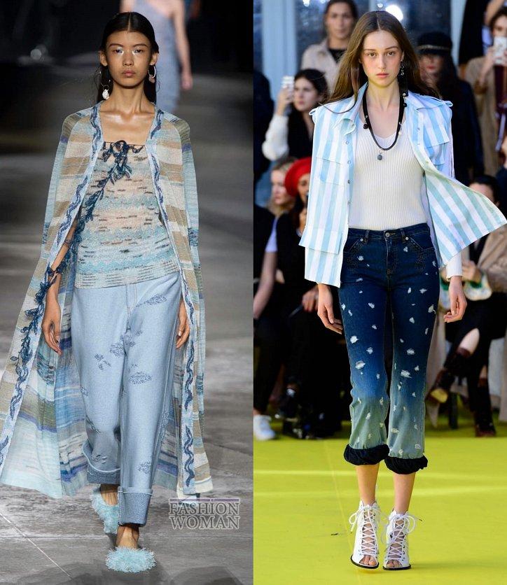 Модные джинсы весна-лето 2019 фото №13