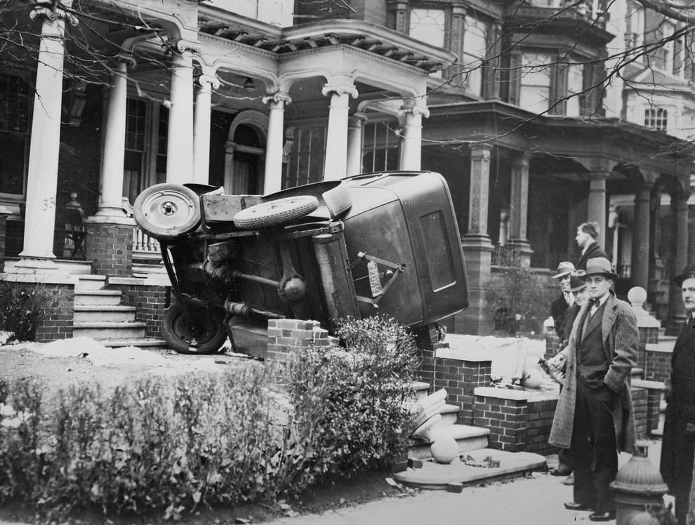 История автомобильных аварий…