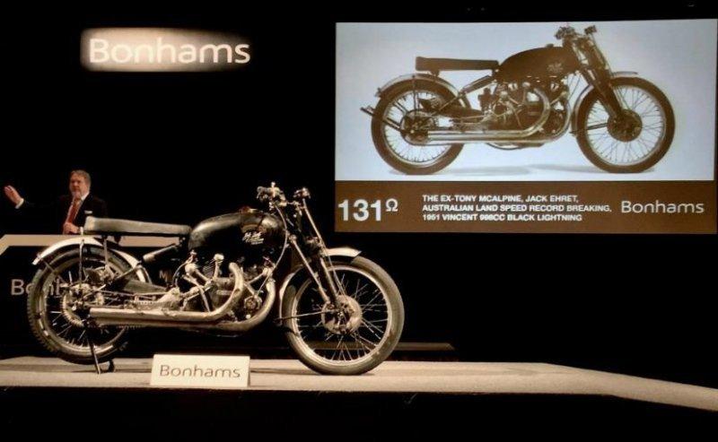 Vincent Black Lightning 1951 - самый дорогой мотоцикл в мире ушел с молотка