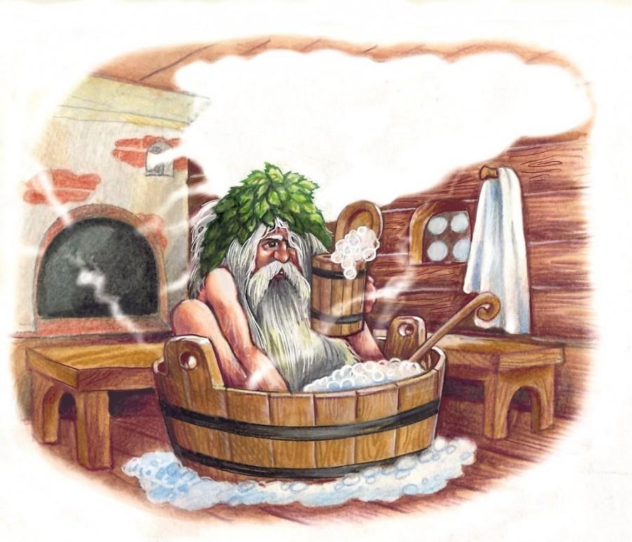 Картинки, смешные рисунки на тему баня