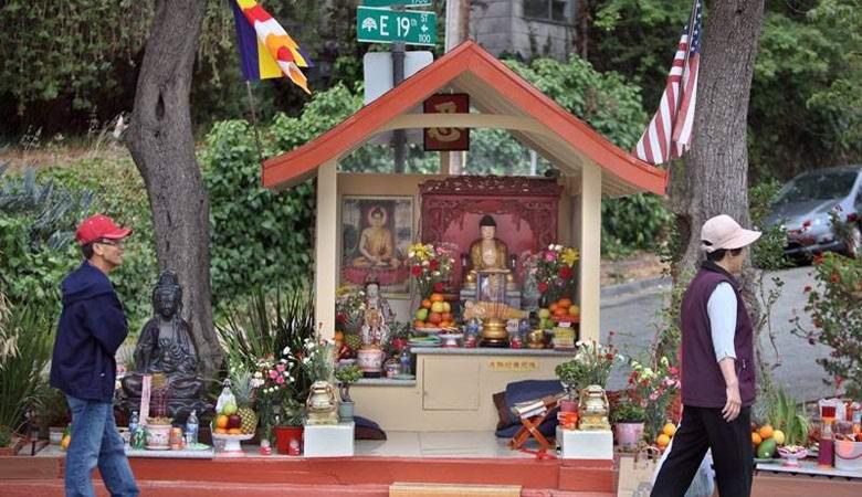 Статуя Будды в Окленде снизи…