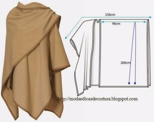 Сногшибательные модели пальто из одного куска ткани! одежда,пальто,переделки,своими руками