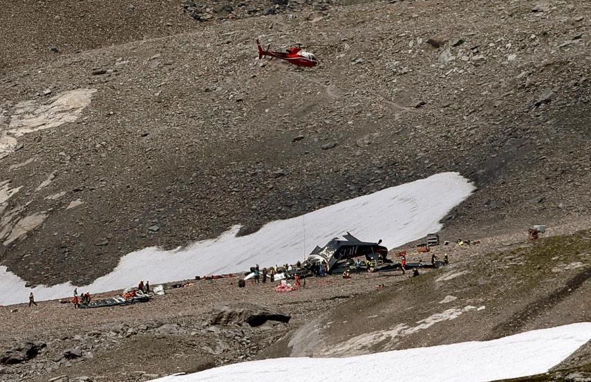 Место крушения Junkers Ju-52. reuters.com - В Швейцарии разбилась «Тётушка Ю» | Warspot.ru