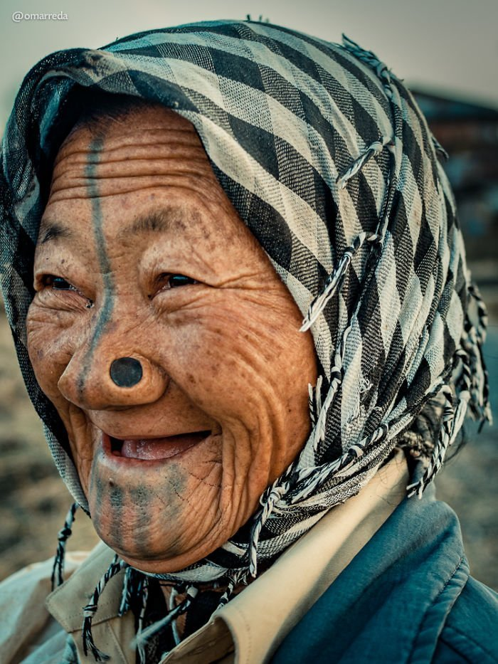 2. апатани, женщина, индия, народ, портрет, традиция, фотография, фотомир