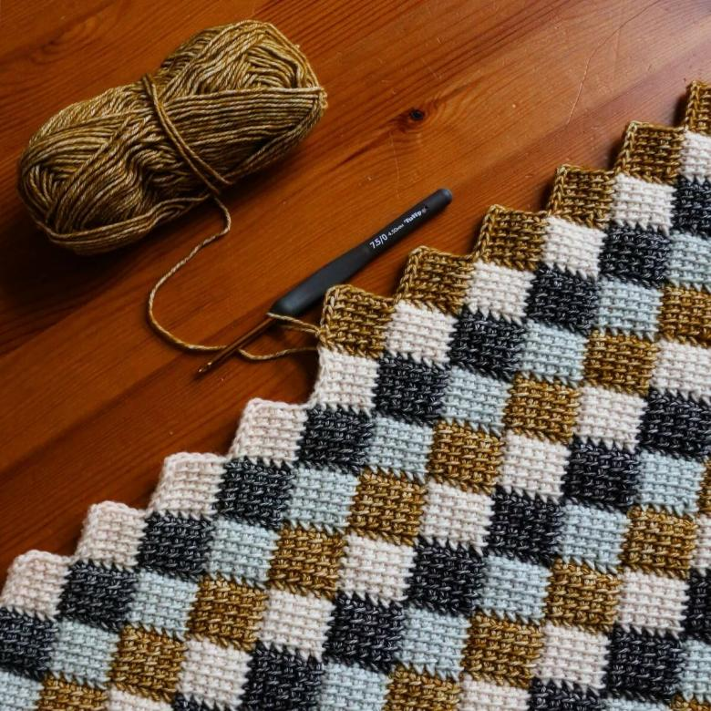 Техника тунисского вязания крючком и спицами - подробная пошаговая инструкция для начинающих