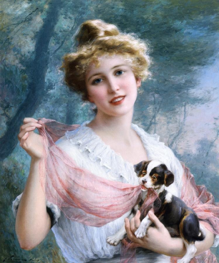 Эмиль Вернон (1872-1919) и картины художника на тему женского образа