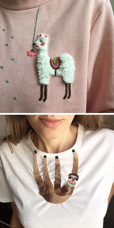 Невероятный декор простых вещей вышивка на одежде,декор,одежда,переделки,своими руками