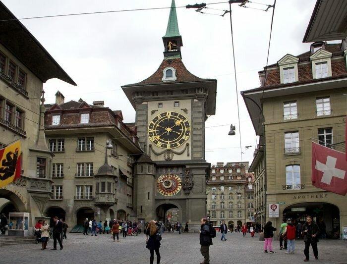 Цитглогге – европейская старушка башенные часы, самое большое, символ горда