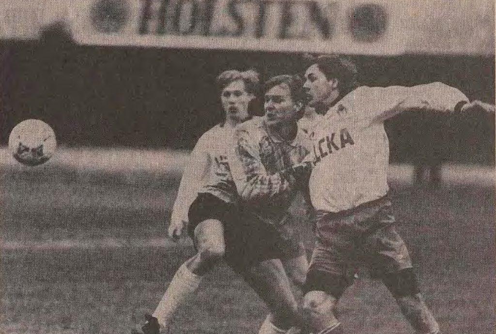 Фото с самого первого чемпионата России по футболу. 1992 год