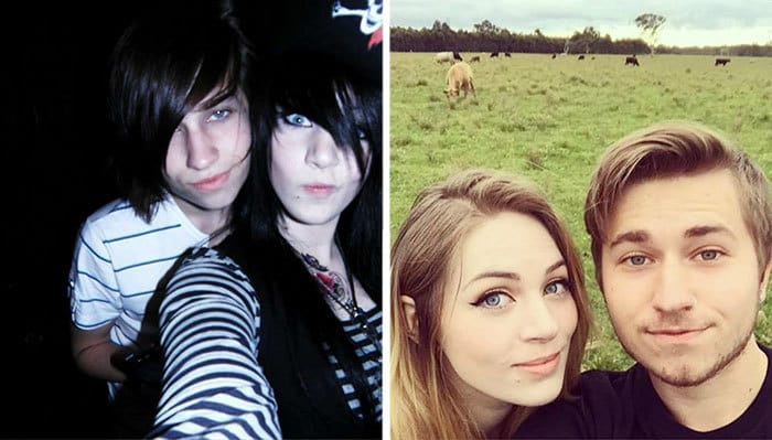 Me And My Girlfriend When We First Met Vs. Now. The Regretful Emo Phase