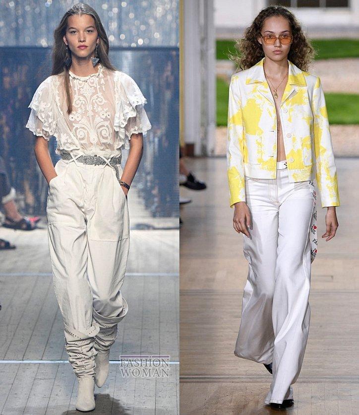 Модные джинсы весна-лето 2019 фото №31