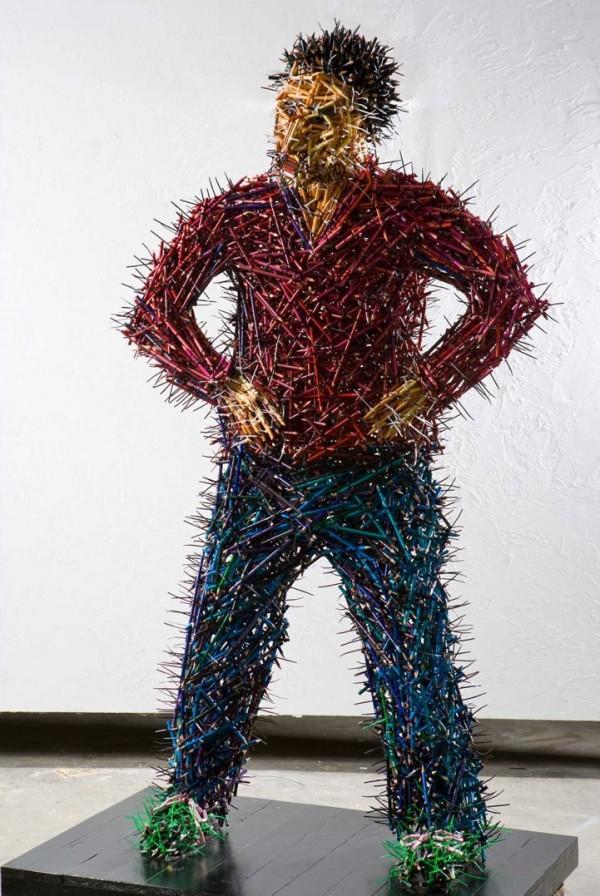 Карандашные скульптуры Федерико Урибе