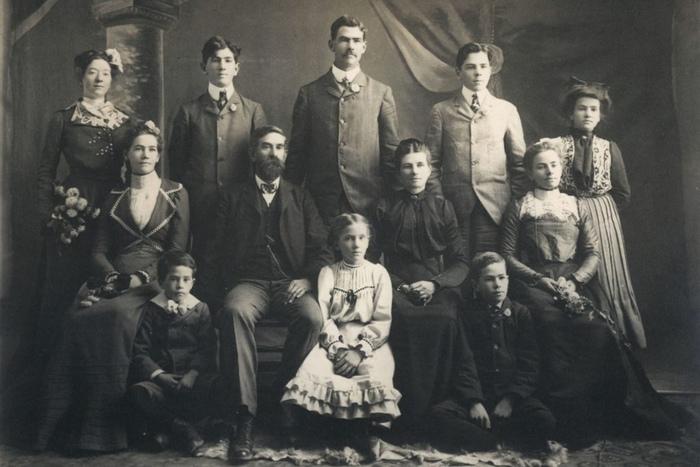 Семья мормонов, девятнадцатый век.