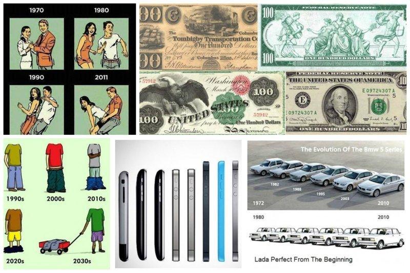 Эволюция вещей и явлений в картинках вещи, интересное, картинки, факты, эволюция