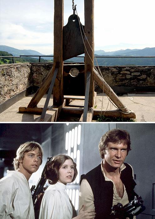 Казнь на гильотине и фильм *Звездные войны.*