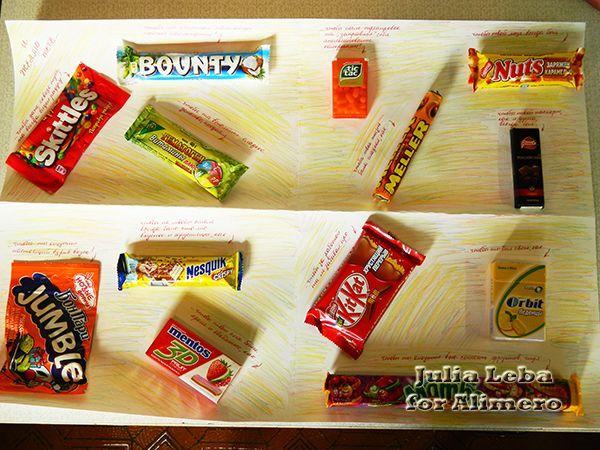 открытки с соками и шоколадом