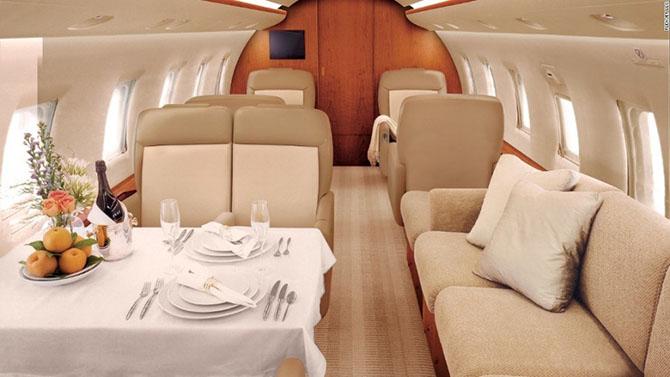 Как выглядят салоны лучших бизнес-самолётов в мире