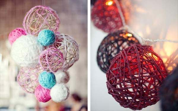 Декор из ниток для вязания своими руками - фото идеи для дома