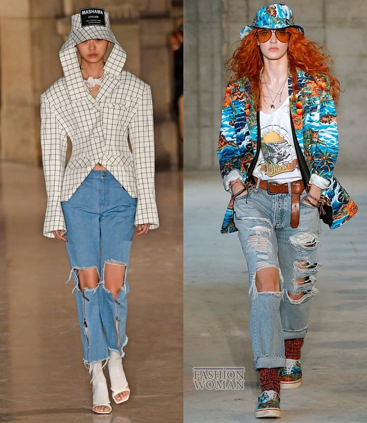 Модные джинсы весна-лето 2019 фото №15