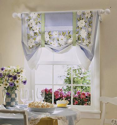 Мини-бикини: кухонные шторы из небольших кусочков ткани — 20 легких вариантов