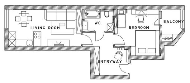Яркая квартира в Киеве, 44 м²