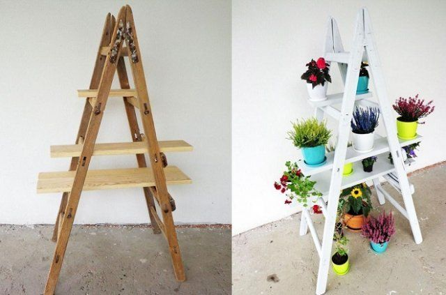 Стойка для цветов в виде лестницы: пошаговый мастер-класс с фото