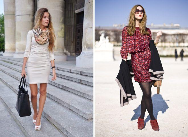 как носить палантин с платьем