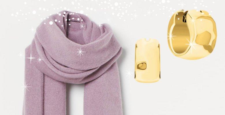 Яркий шарф и оригинальные се…