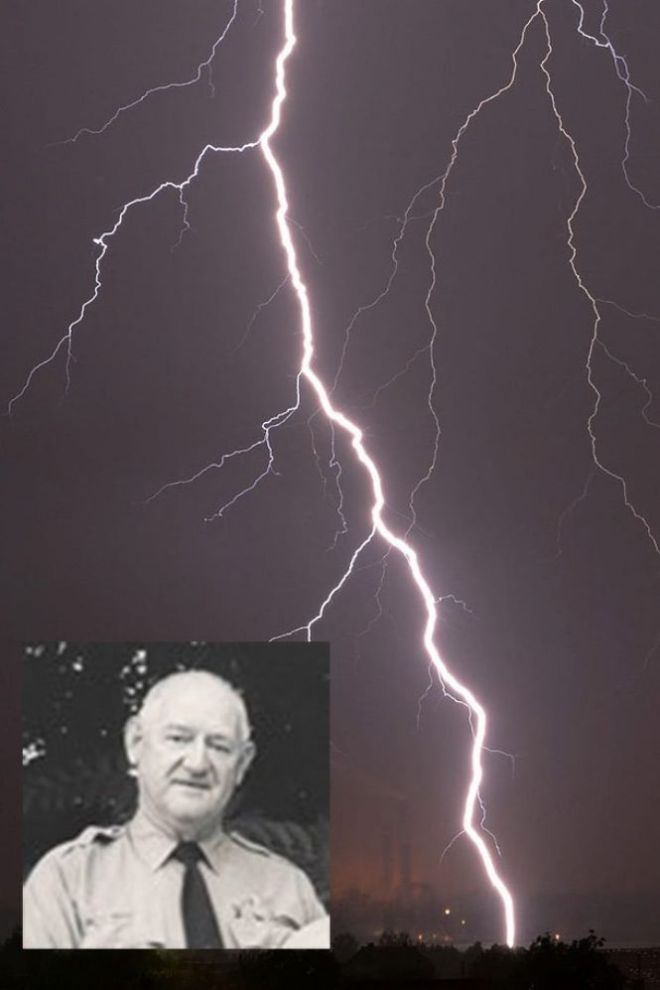 Молния и фото мужчины