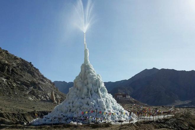 Как хранят воду в Северных Гималаях на высоте 4 километра