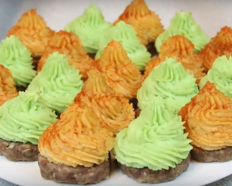 Разноцветные стожки - горячее блюдо на праздничный стол