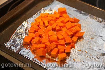 Салат из печеной тыквы со свеклой и брынзой, Шаг 02