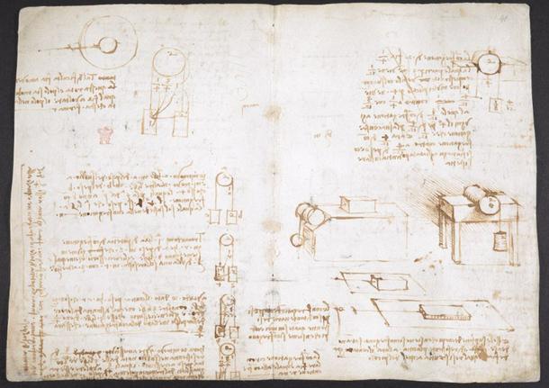 Страницы из блокнота Леонардо да Винчи