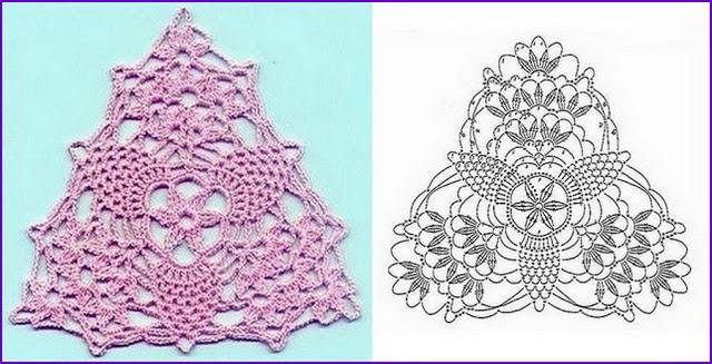 Треугольные мотивы крючком + схемы