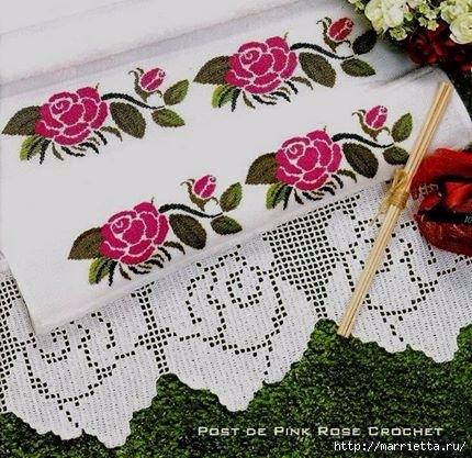 Вышиваем розы — схемы для цветочной вышивки крестом