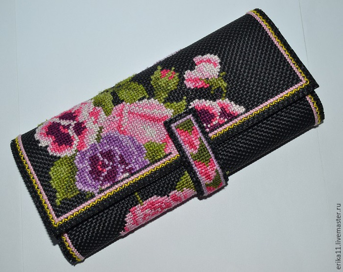 Мастерим кошелек с вышивкой: мастер-класс